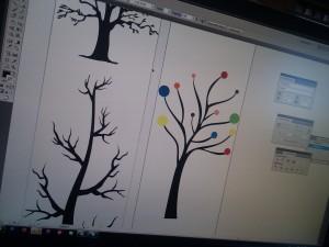 Høje træer - wallsticker
