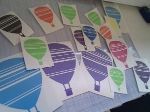 Wallstickers med Luftballon