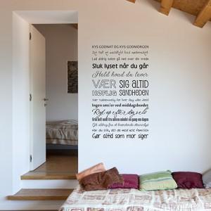 """Wallsticker """"Vores Hjem"""" fra DiMaria.dk"""