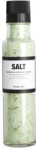 Salt med parmasanost og basilikum