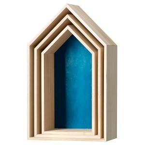 Bloomingville husformede kasser til ophæng. fås i mange farver. fra 579,-