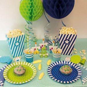 engangsservice og pynt til børnefødselsdagen