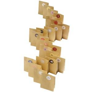 Gaveposer fra Nordal til indpakning af pakkekalender
