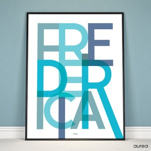 Bynavns plakat fredericia