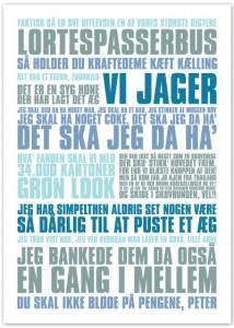 Plakat med Blinkende Lygter citater