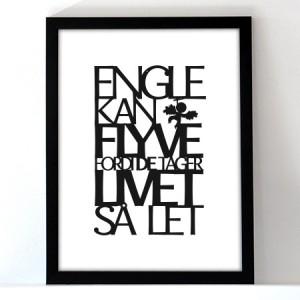 Engle kan flyve ophæng sat i ramme