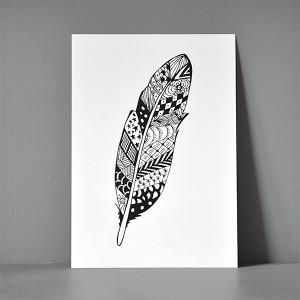 A5-postkort_zendoodle_feather