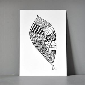 A5-postkort_zendoodle_leaf