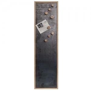 Oakmen Magnetisk opslagstavle i jern og egetræ.