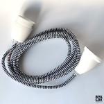 NUD Collection tekstil ledning - Sort/hvid